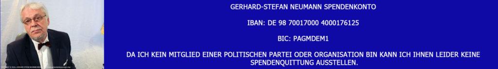 Spendenkonto ► Gerhard-Stefan Neumann Media TV Blog ►